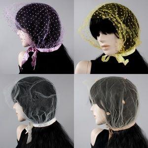 Lot 4 Vintage 50s 60s Sheer Hair Net Roller Cover